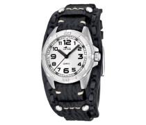 Herren-Uhren Quarz mit Lederband 15686/2
