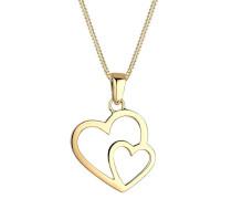 Kette mit Anhänger Herz 925 Sterling Silber 45 cm 0112810414