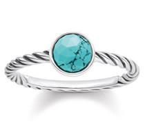 Damen-Ring Ethno 925 Sterling Silber Türkis