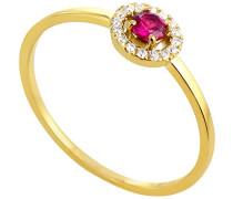 Ring 9 Karat (375) Gelbgold Rubin badm 07035-0001
