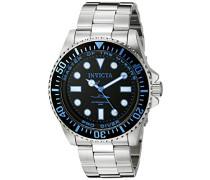 20122 Pro Diver Uhr Edelstahl Quarz schwarzen Zifferblat