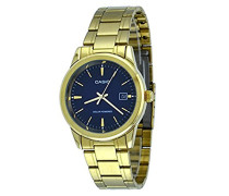 Mod. MTP-VS01G-2A - Solar Powered Quartz Date SS Bracelet Ip Gold Blue Dial 41mm wr 30mtORIGINAL BOX