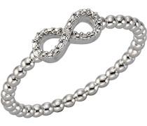 Ring 925 Sterling Silber teilvergoldet Diamant 0.10 ct weiß Rundschliff