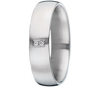Damen-Ring Edelstahl Diamant weiß