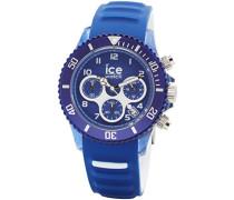 ICE aqua Marine - Blaue Herrenuhr mit Silikonarmband - Chrono - 012734 (Large)