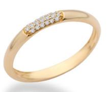Ring Memoire 9 Karat (375) Gelbgold mit Brillanten 0.06ct