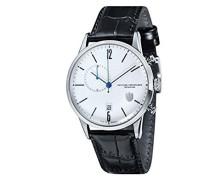 Chronograph Quarz Uhr mit Leder Armband DF-9012-03