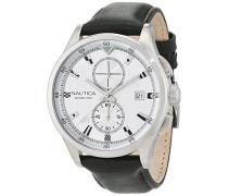 Chronograph Quarz Uhr mit Leder Armband NAD16556G