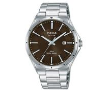 Analog Solar Uhr mit Edelstahl Armband PX3137X1