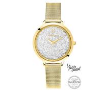 Analog Quarz Uhr mit Edelstahl Armband 105J508