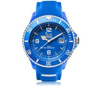 ICE sporty Blue White - Blaue Herrenuhr mit Silikonarmband - 001332 (Extra Large)