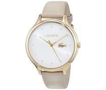 Datum klassisch Quarz Uhr mit Leder Armband 2001007