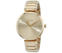 Datum klassisch Quarz Uhr mit Edelstahl Armband 1502415