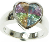 Ring Rainbow Collection 925 Sterlingsilber Multicolor Zirkonia 56 (17.7) CC-22/1-56