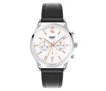 Chronograph Quarz Uhr mit Leder Armband HL41-CS-0011
