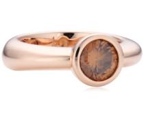 Damen-Ring Silber vergoldet Zirkonia Meryl braun