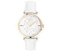 Analog Quarz Uhr mit Leder Armband R4251108501