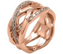 Kleine Poison Ivy Muster Rose Gold Ring