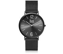 Männer Analog Quarz Uhr mit Edelstahl Armband 012698