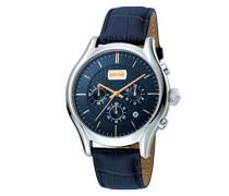 Chronograph Quarz Uhr mit Leder Armband JC1G038L0045