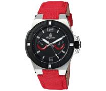 Armbanduhr für mit Analog Anzeige, Quarz-Uhr und Textil Armband - Wasserdichte Damenuhr mit zeitlosem, schickem Design - klassische