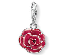 Charm-Anhänger Charm Rose Charm Club 925 Sterling Silber rot 0697-007-10