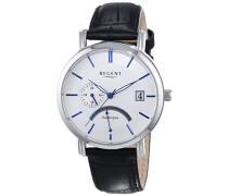 Herren-Armbanduhr XL Analog Quarz Leder 11110705