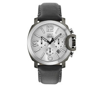 Chronograph Quarz Uhr mit Leder Armband CRA181SUS04BK