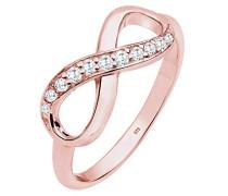 Ring Infinity Symbol Zirkonia rosé vergoldet silber 925 Gold
