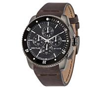 Armbanduhr 350 Chronograph Quarz Leder R3271903002