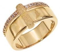 d23008z – Galante – Damenring – vergoldet – Zirkonia