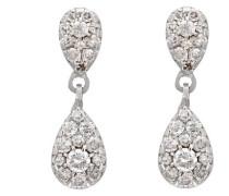 Ohrringe 18 Karat 750 Gold 42 Diamanten 0.3 Carat OD-5278