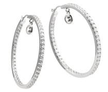 Creolen 925 Sterling Silber Zirkonia Classic Linie weiß 62/1411/1/082