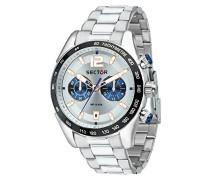 Chronograph Quarz Uhr mit Edelstahl Armband R3273794008