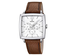 Herren-Armbanduhr XL Analog Quarz Leder F16784/1