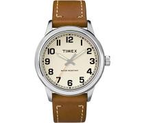 Analog Quarz Uhr mit Leder Armband TW2R22700