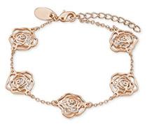 Armband rosévergoldet im Rosen-Design mit Kristallen von Swarovski