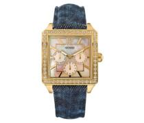 Damen-Armbanduhr Analog Quarz Leder W12591L1