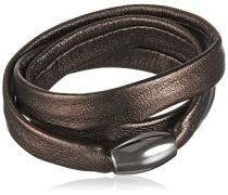 Damen-Armband Edelstahl Leder 50 cm - 51607548G1