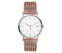 Analog Quarz Uhr mit Edelstahl Armband LT-0109-MQ