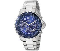 Chronograph Quartz Uhr mit Edelstahl Armband 6621