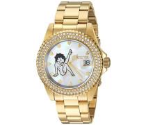 24492 Character - Betty Boop Uhr Edelstahl Quarz weißen Zifferblat