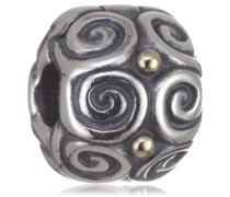 Bead 925 Sterling-Silber Muster Mit 14K-Gold 790594