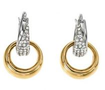 Damen-Ohrringe Edelstahl Zirkonia D31123SDZ-gold