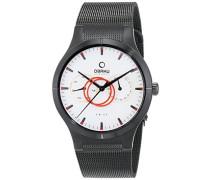 Obaku Armbanduhr Analog Quarz Edelstahl beschichtet V100GBIMB-S
