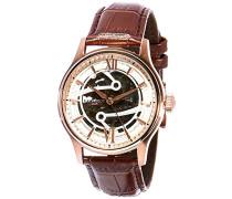 Erwachsene Analog Automatik Smart Watch Armbanduhr mit Leder Armband ES-8801-02