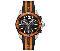 Armbanduhr XL Chronograph Quarz Kautschuk C013.417.27.057.01