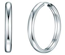 Damen-Creolen 925 Silber rhodiniert - 60837002