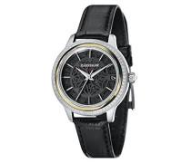 Skeleton Automatik Smart Watch Armbanduhr mit Leder Armband ES-8064-05