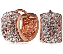 Creolen Ohrringe rosévergoldet veredelt mit Kristallen von Swarovski